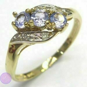 Кольцо, золото 10 карат(417 проба), танзанит, бриллианты (природный) 72be57cab76
