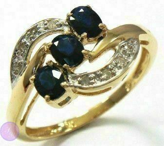 Кольцо, сапфир, золото 10 карат(417 проба), бриллианты (природный) f9551cc463a